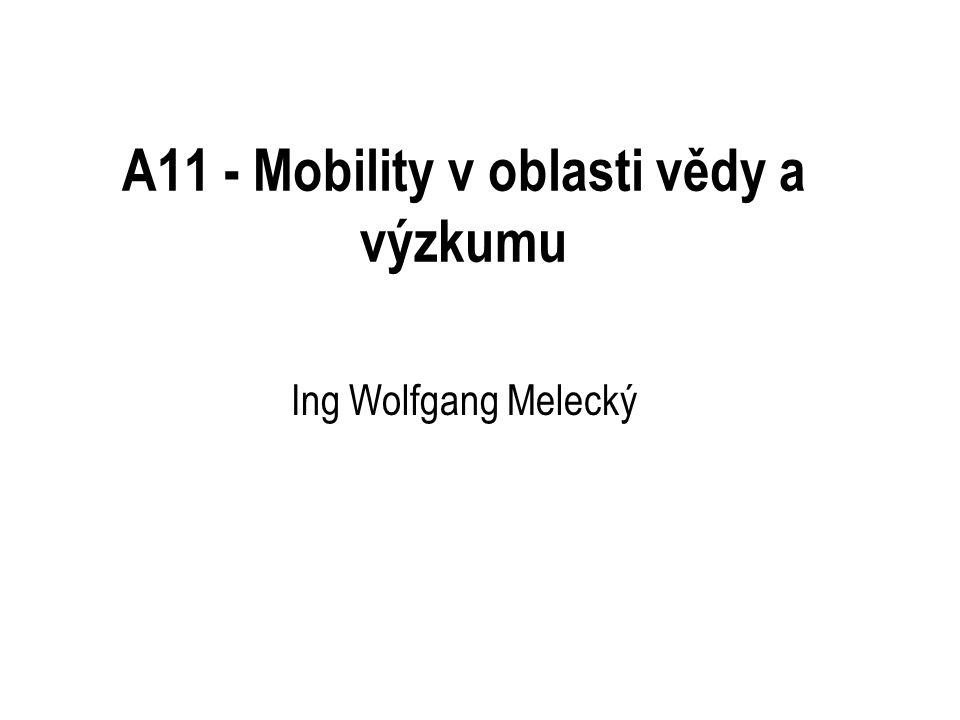 A11 - Mobility v oblasti vědy a výzkumu Ing Wolfgang Melecký