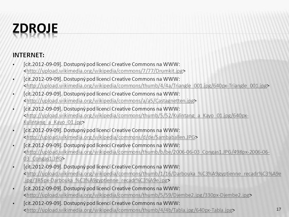 INTERNET:  [cit.2012-09-09]. Dostupný pod licencí Creative Commons na WWW: http://upload.wikimedia.org/wikipedia/commons/7/77/Drumkit.jpg  [cit.2012