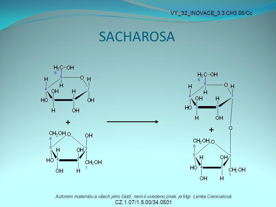 SACHAROSA Autorem materiálu a všech jeho částí, není-li uvedeno jinak, je Mgr.