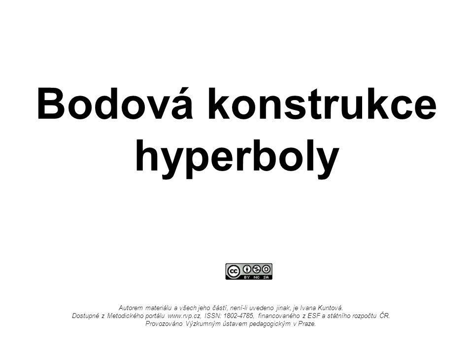 Bodová konstrukce hyperboly Autorem materiálu a všech jeho částí, není-li uvedeno jinak, je Ivana Kuntová.