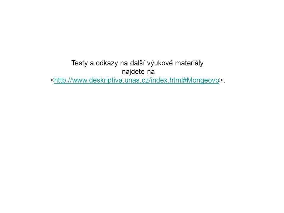 Testy a odkazy na další výukové materiály najdete na.http://www.deskriptiva.unas.cz/index.html#Mongeovo