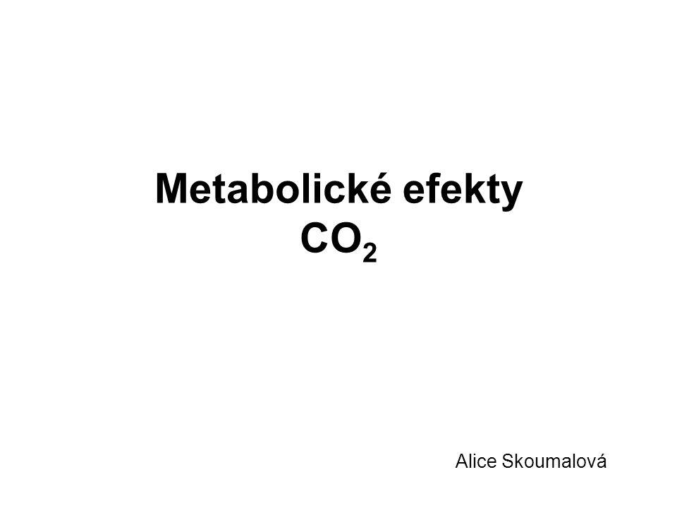 Metabolické efekty CO 2 Alice Skoumalová