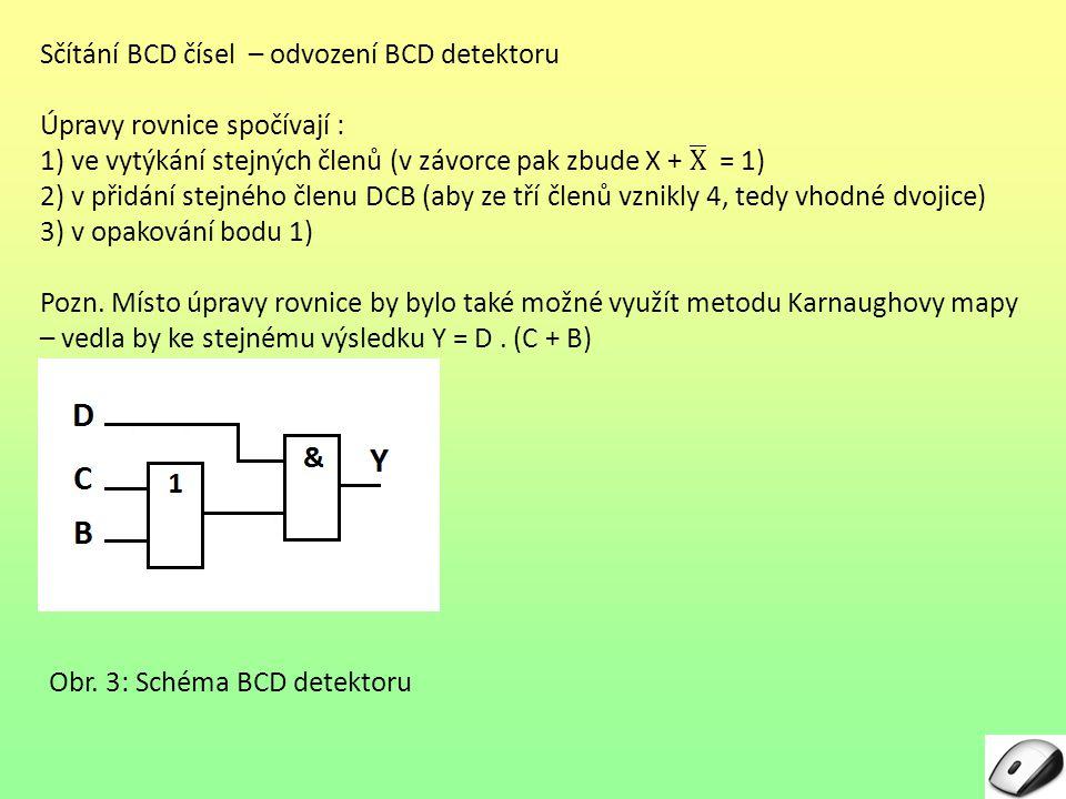 Obr. 3: Schéma BCD detektoru