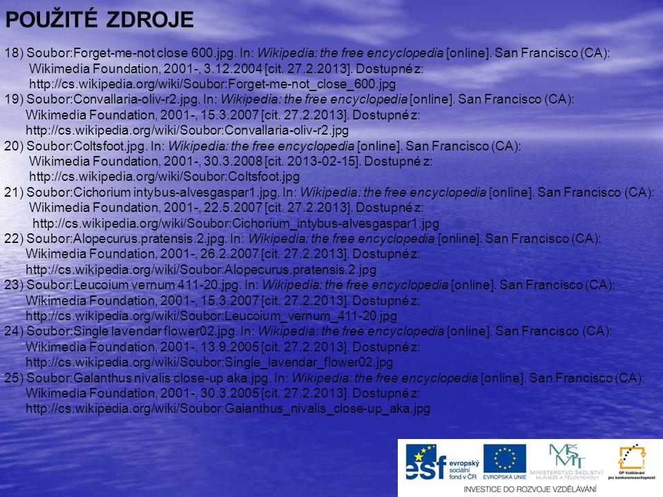 9) Soubor:Matricaria recutita Prague 2011 1.jpg.In: Wikipedia: the free encyclopedia [online].