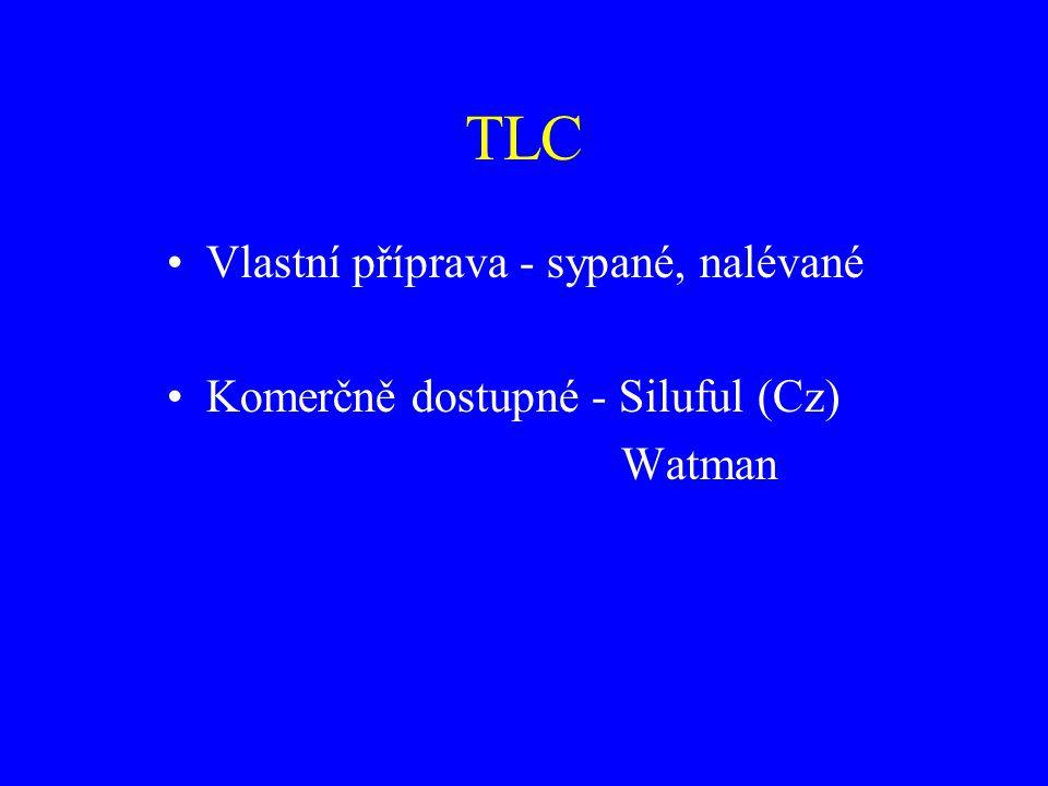 TLC Vlastní příprava - sypané, nalévané Komerčně dostupné - Siluful (Cz) Watman