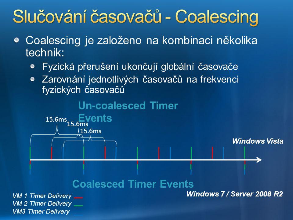 Coalescing je založeno na kombinaci několika technik: Fyzická přerušení ukončují globální časovače Zarovnání jednotlivých časovačů na frekvenci fyzick