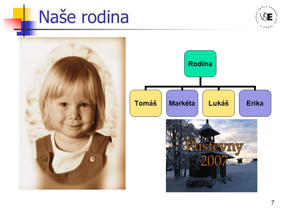 7 Naše rodina Rodina TomášMarkétaLukášErika
