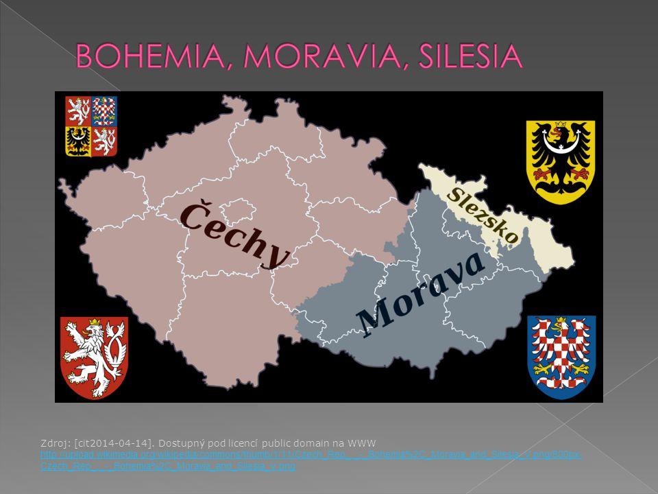 Zdroj: [cit2014-04-14]. Dostupný pod licencí public domain na WWW http://upload.wikimedia.org/wikipedia/commons/thumb/1/11/Czech_Rep_._-_Bohemia%2C_Mo
