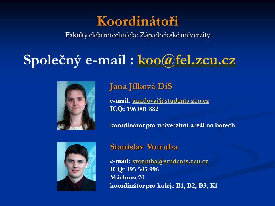 Informace KOO: - Průzkum KOO příští týden na přednášce PPEL - Další RP v letním semestru - Informace na nástěnce a stránkách KOO