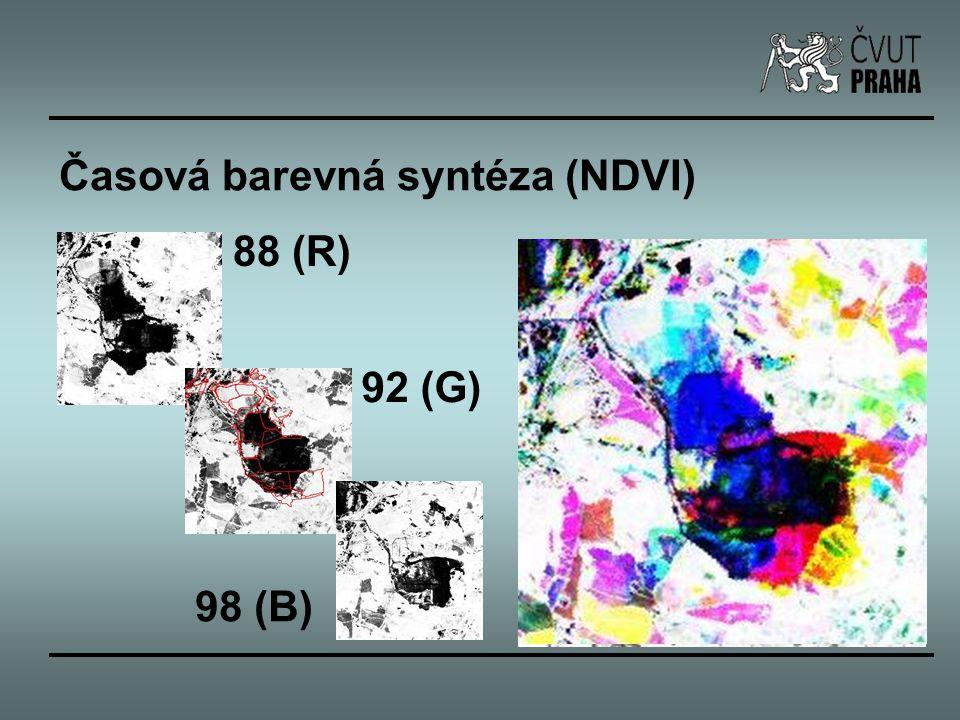Časová barevná syntéza (NDVI) 88 (R) 92 (G) 98 (B)