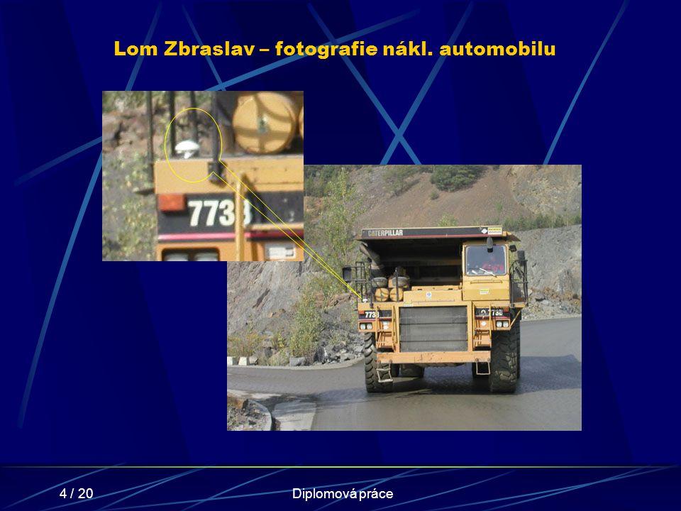 4 / 20Diplomová práce Lom Zbraslav – fotografie nákl. automobilu