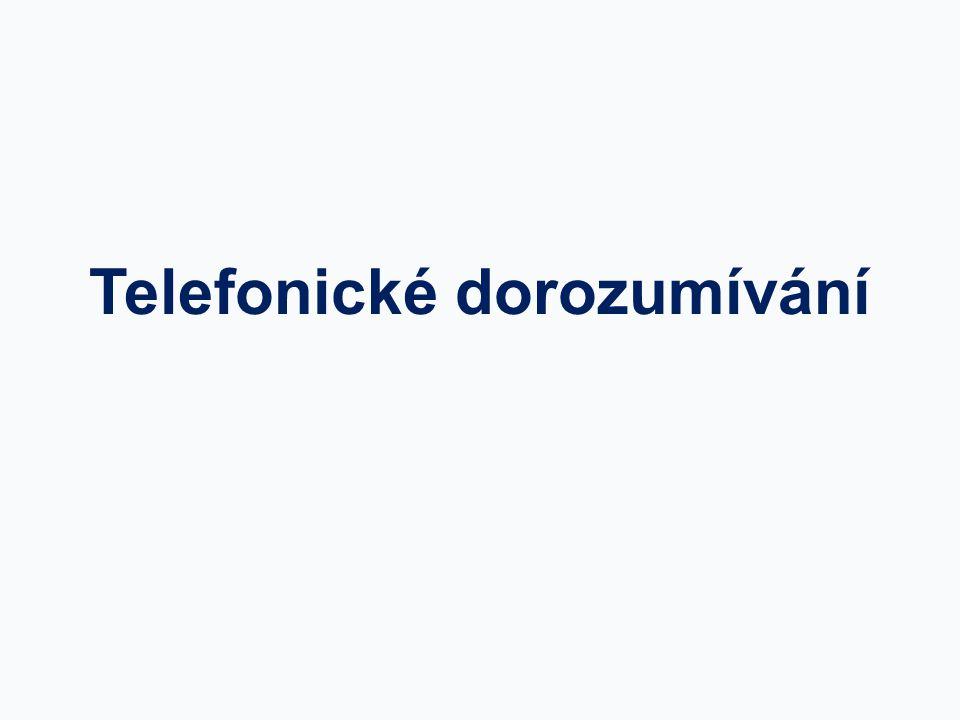 Telefonické dorozumívání