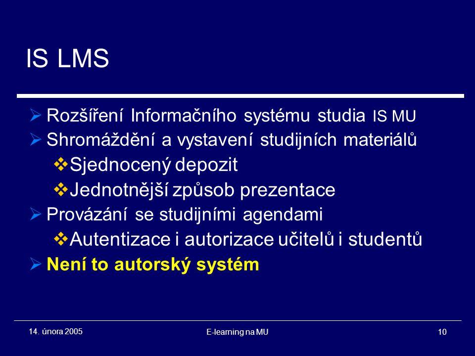 E-learning na MU10 14.