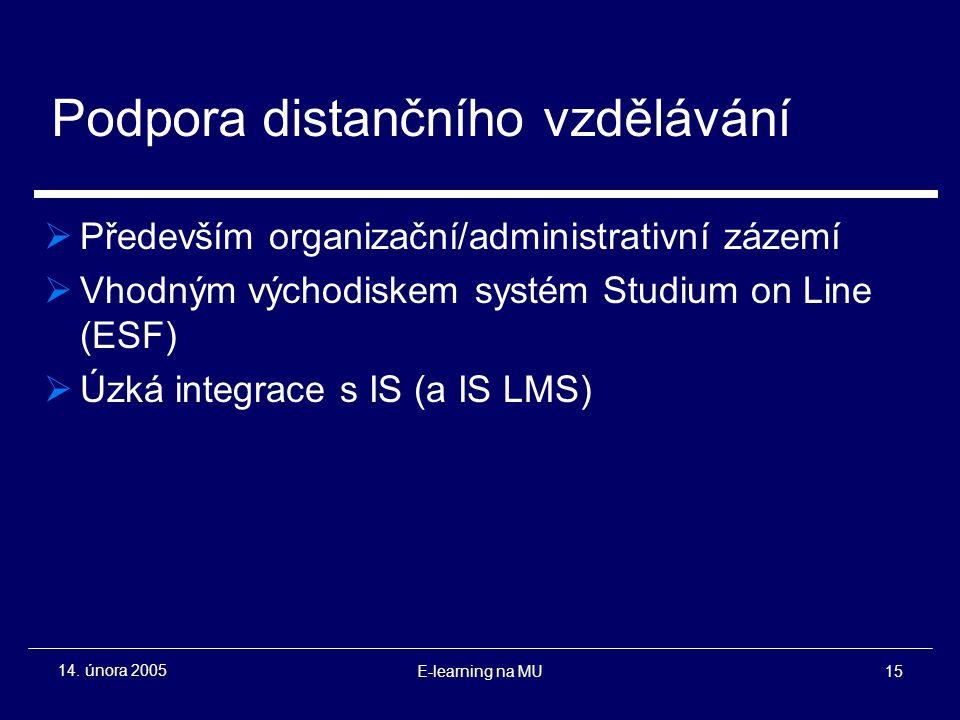 E-learning na MU15 14.