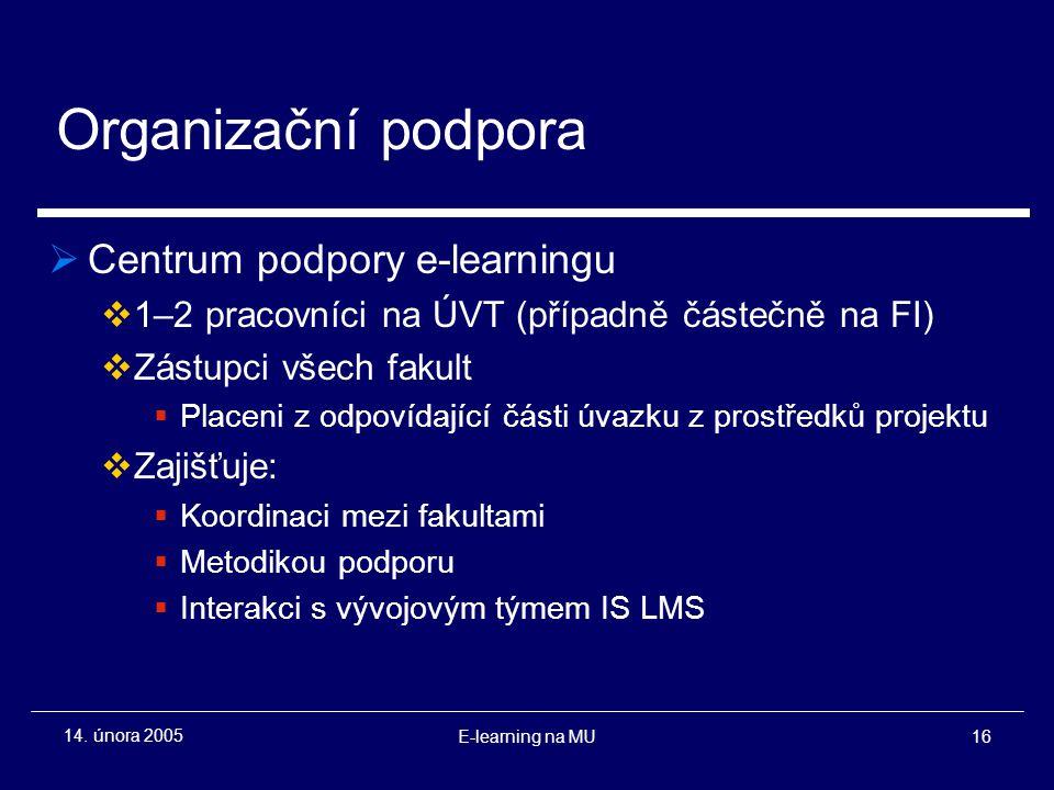 E-learning na MU16 14.