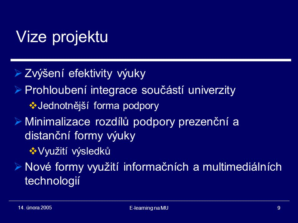 E-learning na MU9 14.