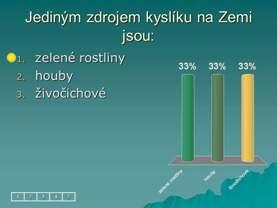 Nejvíce vody je: 12345 1. v rybnících 2. v přehradách 3. v mořích a oceánech