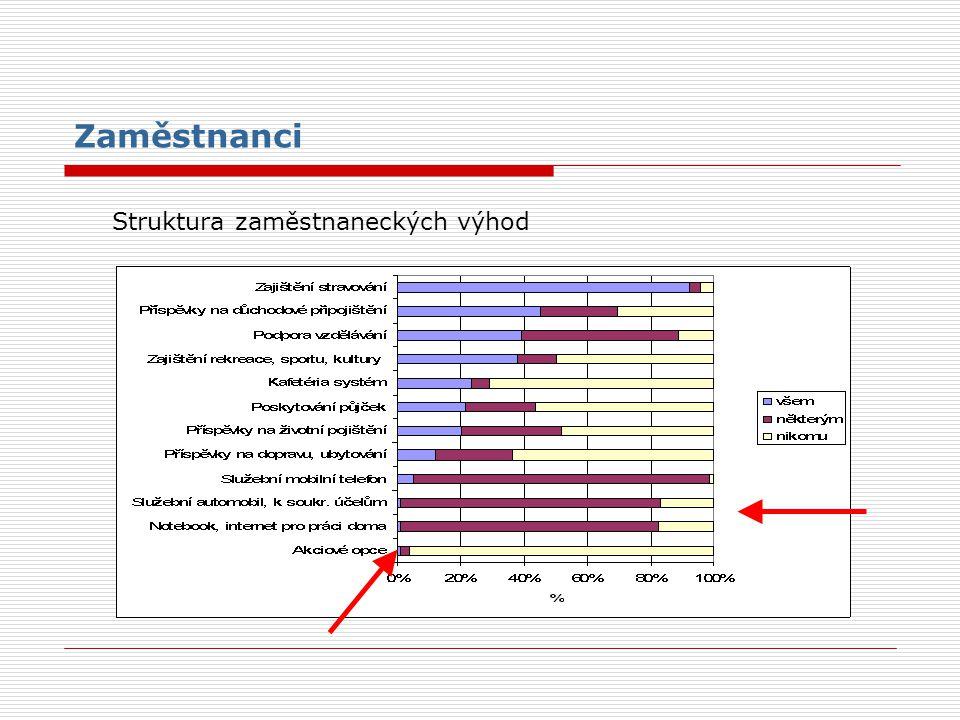 Zaměstnanci Struktura zaměstnaneckých výhod