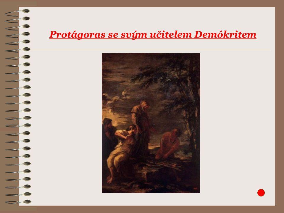 Protágoras se svým učitelem Demókritem