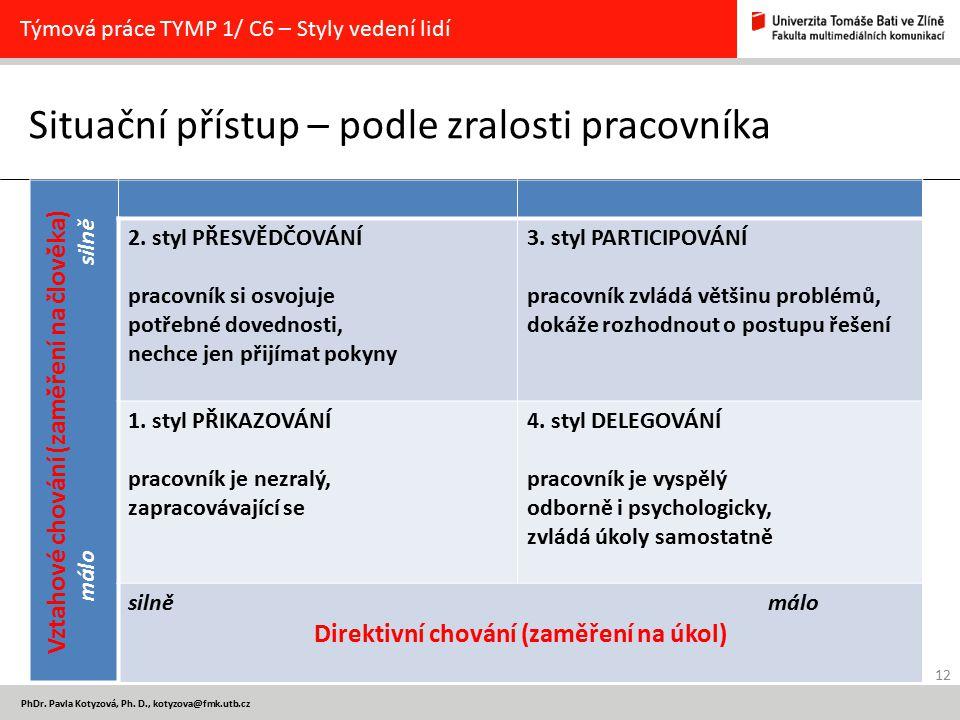 12 PhDr. Pavla Kotyzová, Ph.