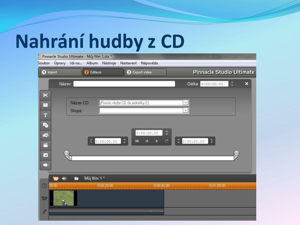 Nahrání hudby z CD