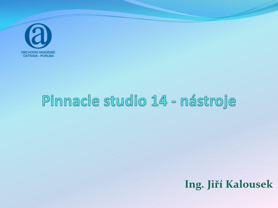 Pinnacle Studio 14 - Nástroje