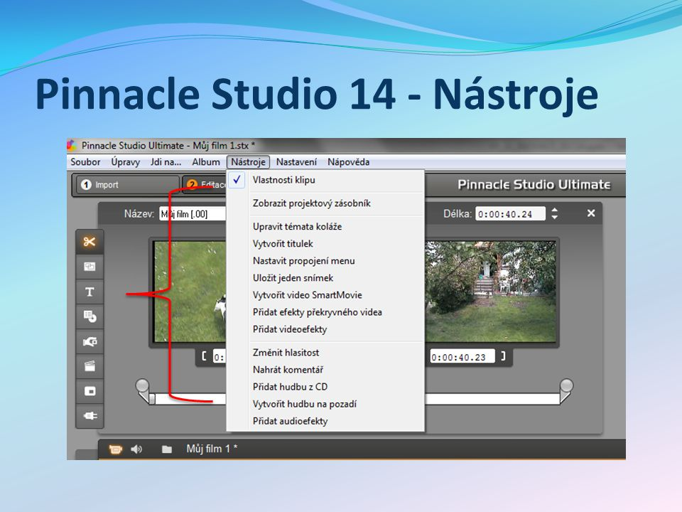 Pinnacle Studio 14 - Nástroje