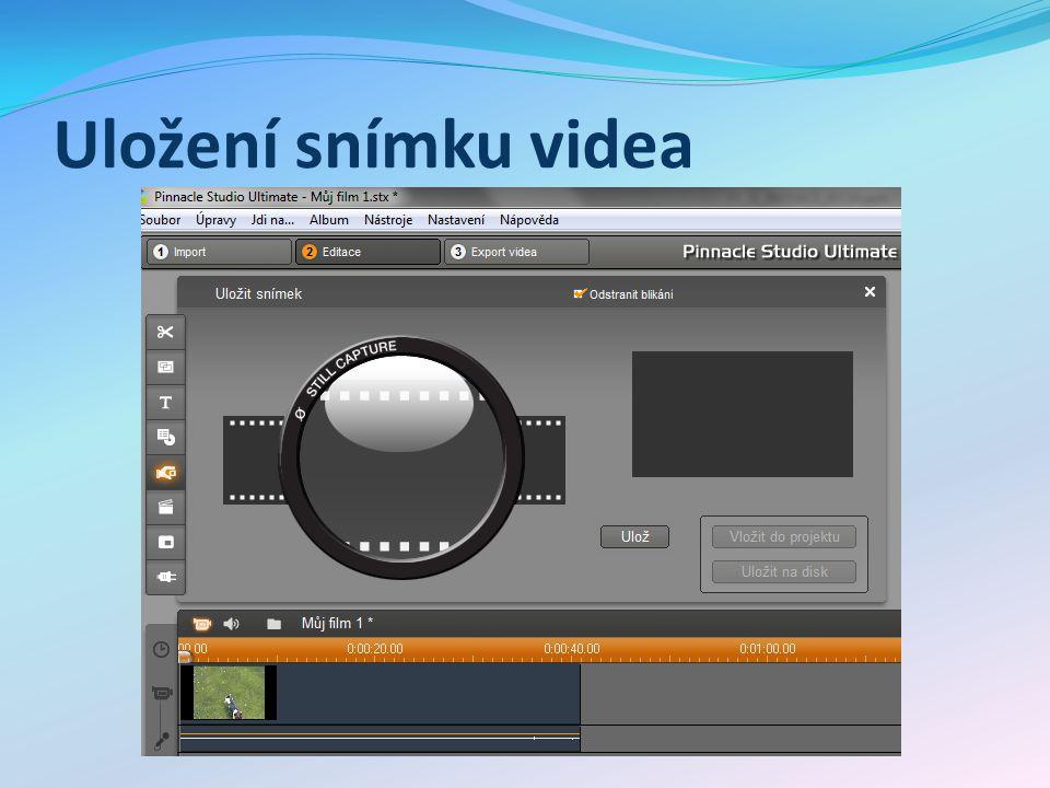 Uložení snímku videa
