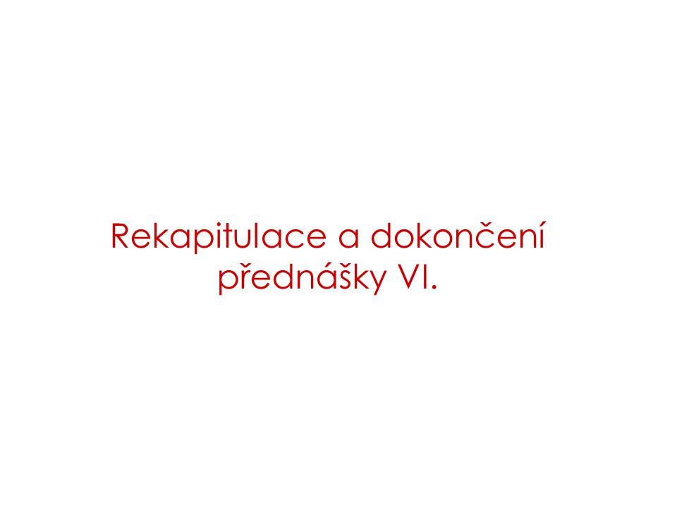 Rekapitulace a dokončení přednášky VI.