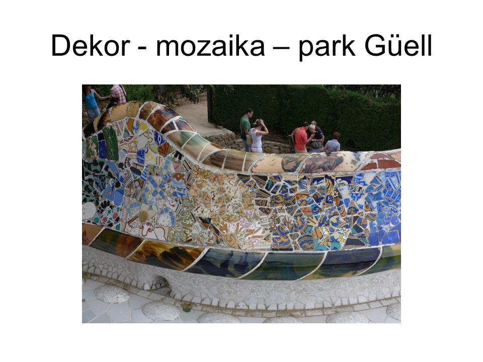 Dekor - mozaika – park Güell