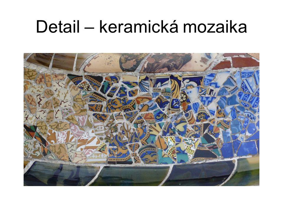 Detail – keramická mozaika