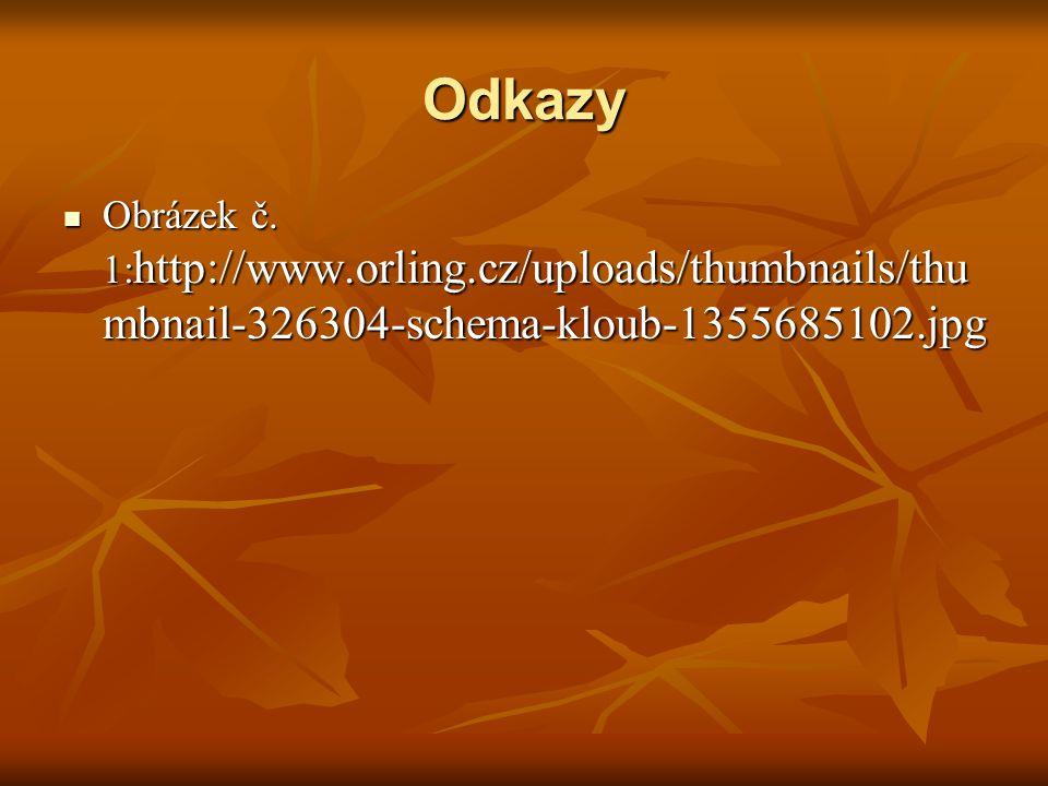 Odkazy Obrázek č. 1: http://www.orling.cz/uploads/thumbnails/thu mbnail-326304-schema-kloub-1355685102.jpg Obrázek č. 1: http://www.orling.cz/uploads/