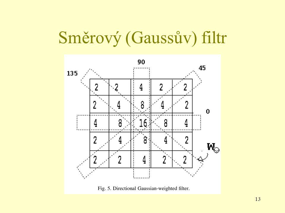 13 Směrový (Gaussův) filtr