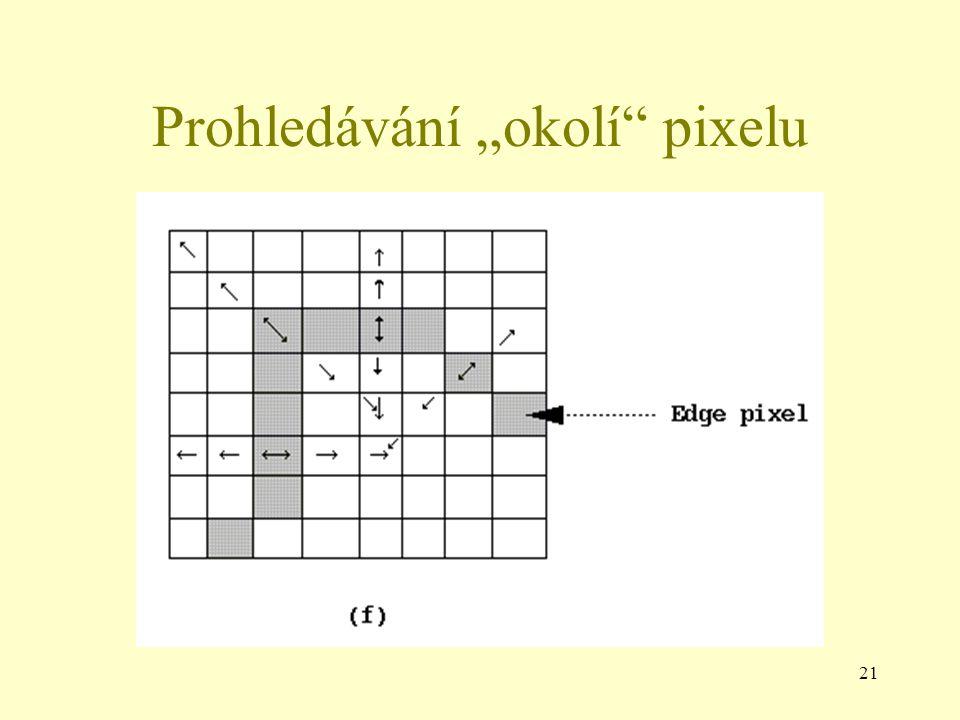 """21 Prohledávání """"okolí pixelu"""