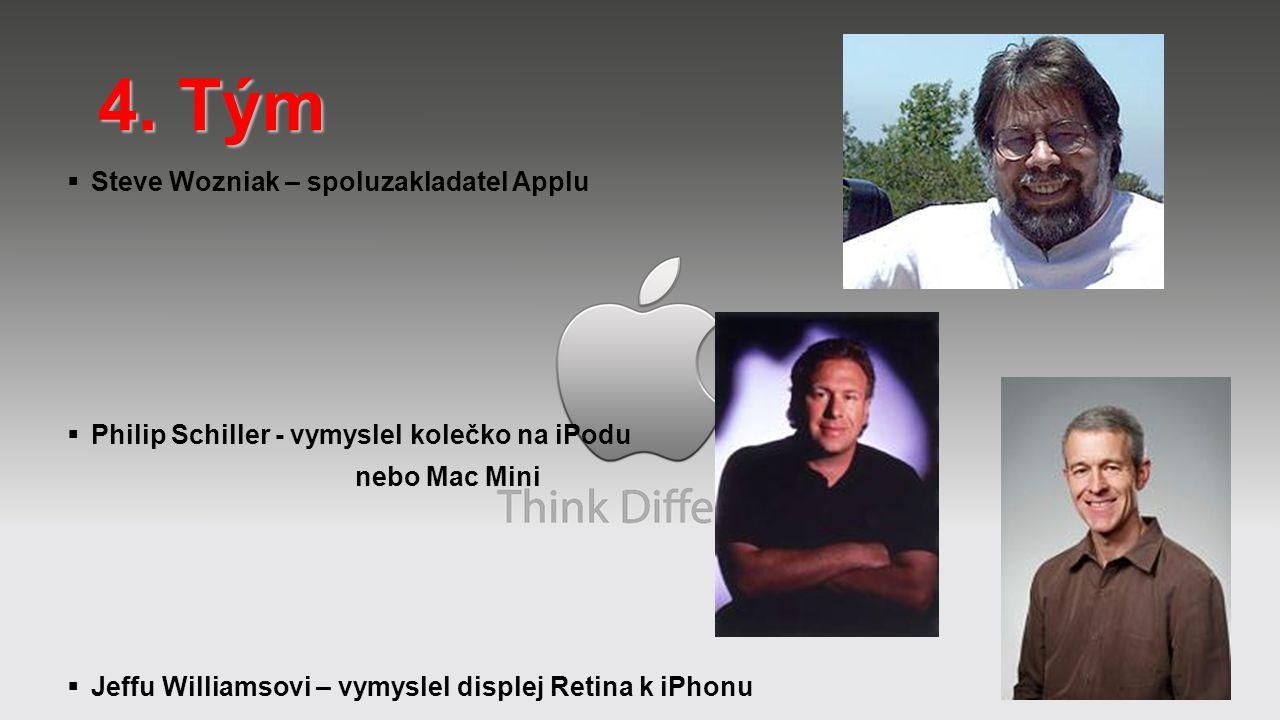  Steve Wozniak – spoluzakladatel Applu  Philip Schiller - vymyslel kolečko na iPodu nebo Mac Mini  Jeffu Williamsovi – vymyslel displej Retina k iP