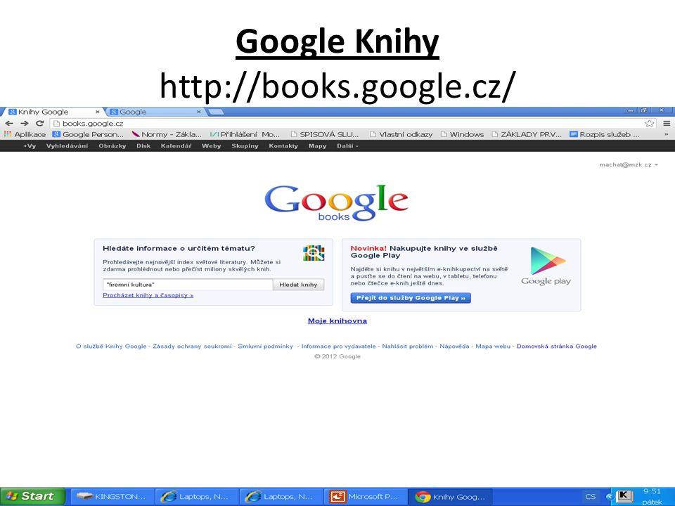 Google Knihy http://books.google.cz/