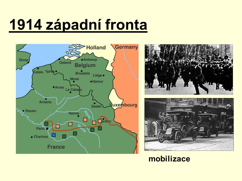 mobilizace 1914 západní fronta