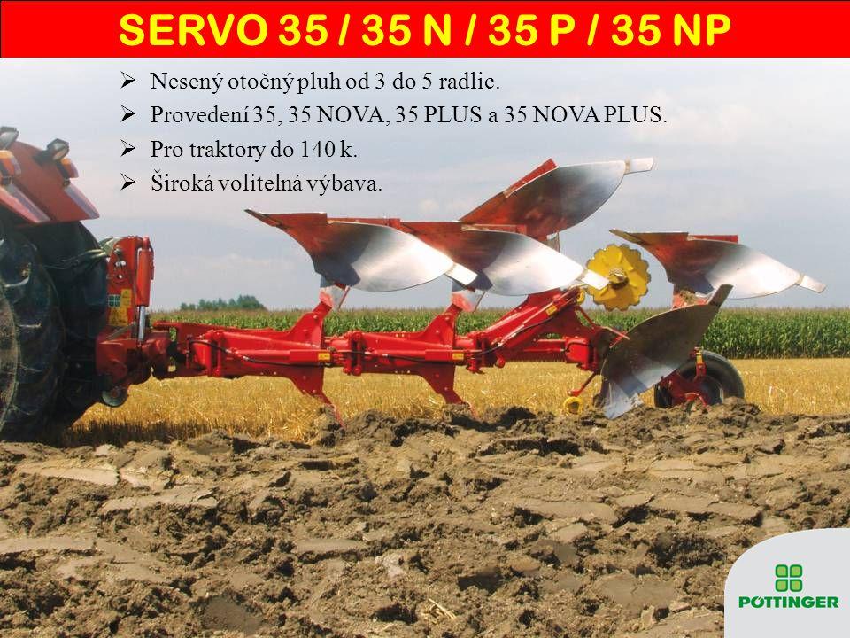 SERVO 35 NOVA – NONSTOP JIŠT Ě NÍ  Ochrana pluhu i pracovních orgánů.