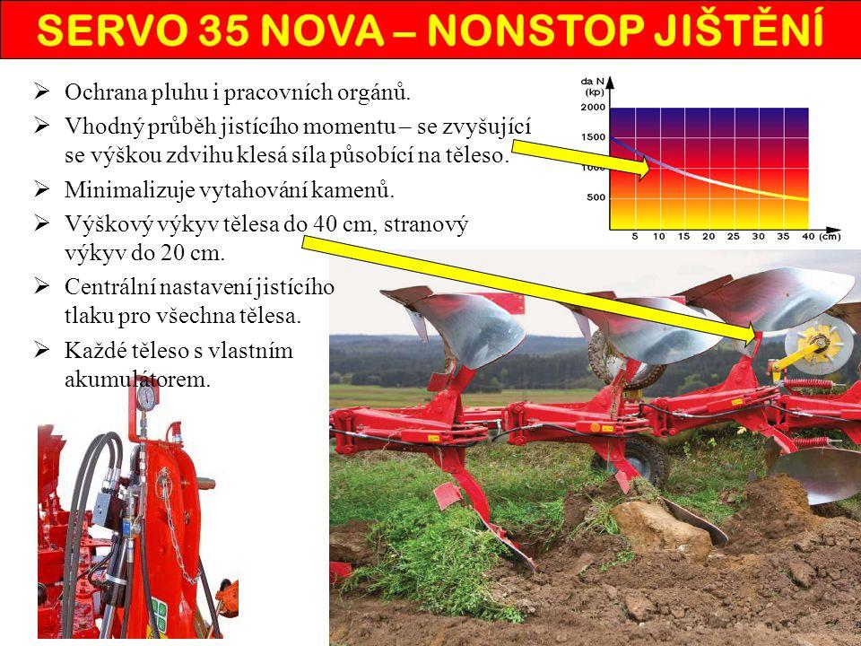  Hydraulicky nastavitelný pracovní záběr z kabiny traktoru i v průběhu orby.