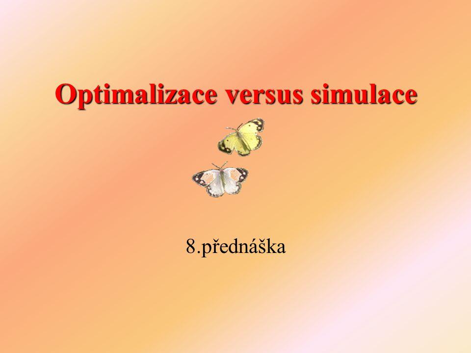 Optimalizace versus simulace 8.přednáška