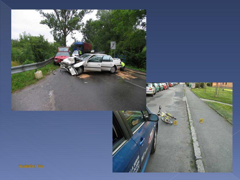 Dopravní nehody zaviněny chodcem : Celkem nehod 266 Usmrceno osob 6 Těžce zraněno 37 Lehce zraněno 208