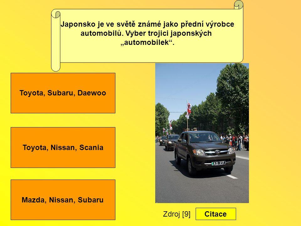 Mazda, Nissan, Subaru Toyota, Subaru, Daewoo Japonsko je ve světě známé jako přední výrobce automobilů.