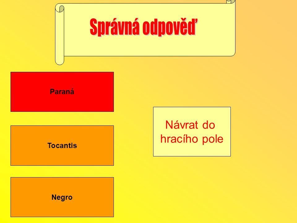 Tocantis Negro Paraná Návrat do hracího pole