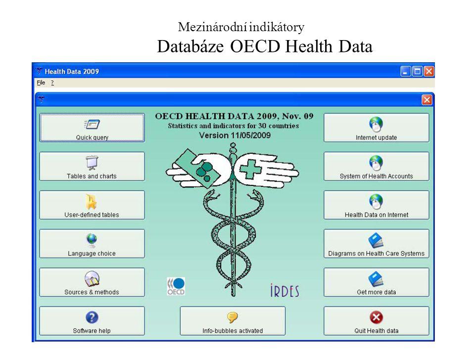 4 Mezinárodní indikátory Databáze OECD Health Data