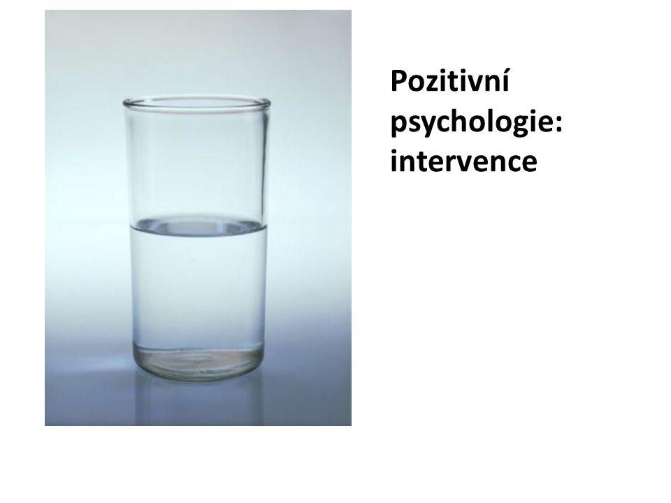 Pozitivní psychologie: intervence