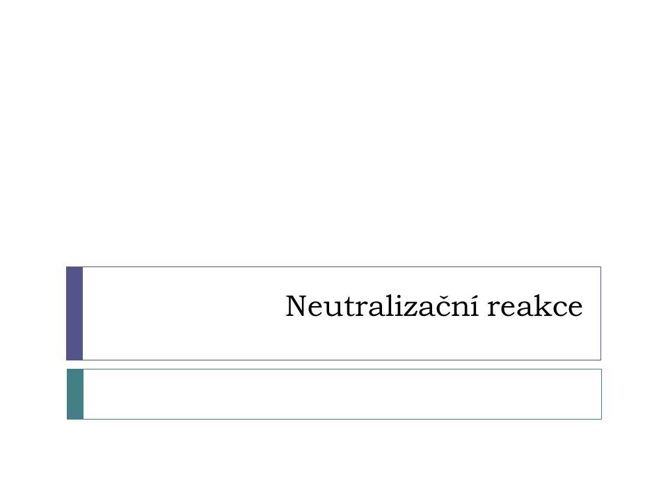 Neutralizační reakce