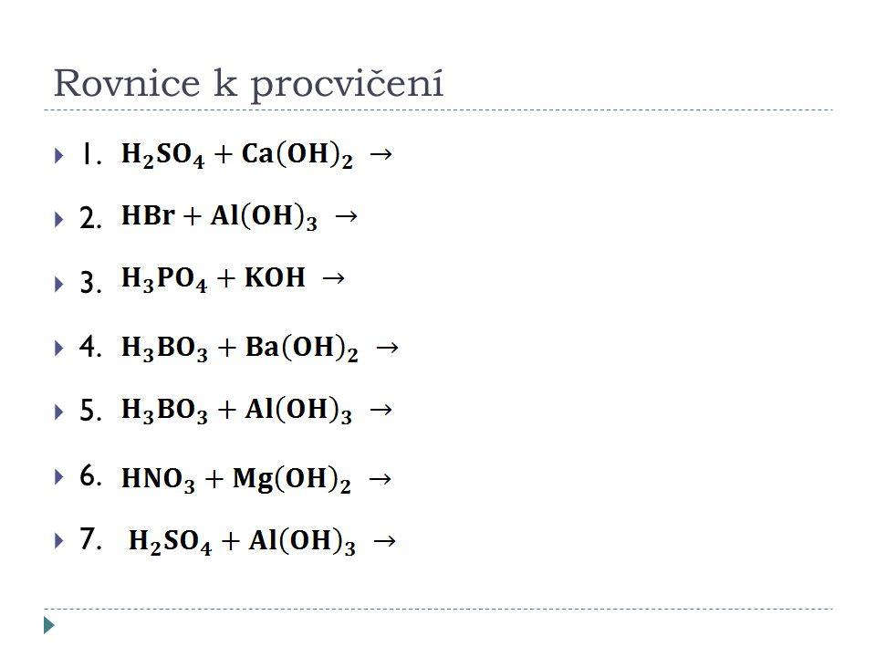 Rovnice k procvičení  1.  2.  3.  4.  5.  6.  7.