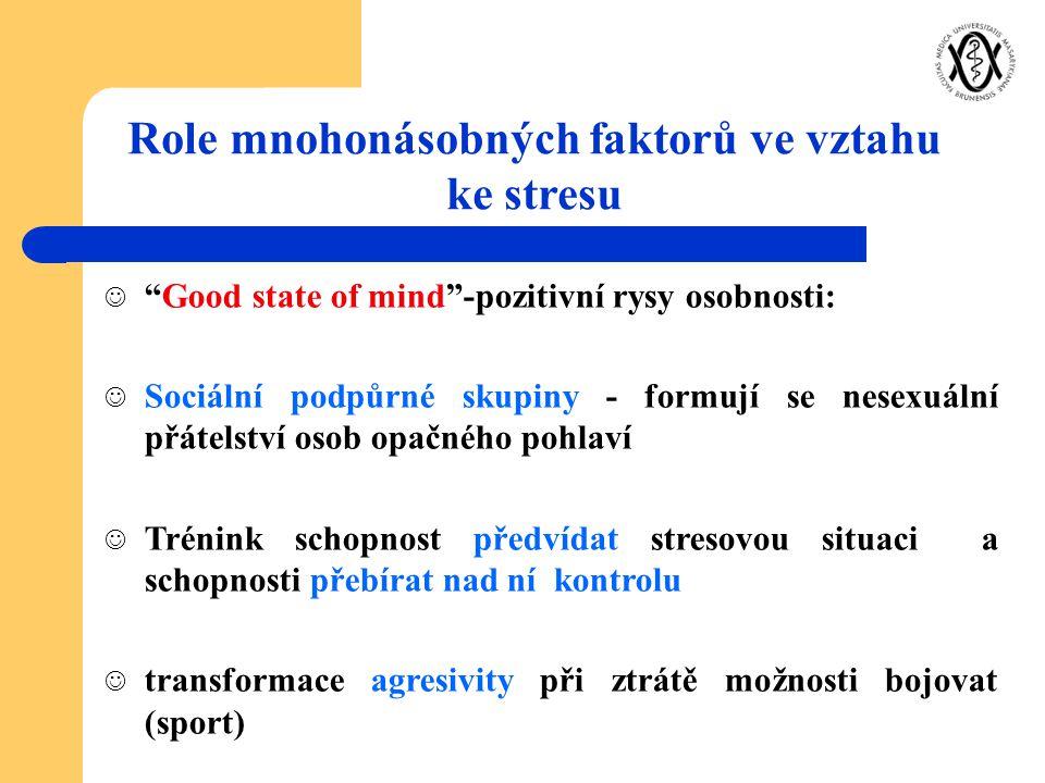 """""""Good state of mind""""-pozitivní rysy osobnosti: Sociální podpůrné skupiny - formují se nesexuální přátelství osob opačného pohlaví Trénink schopnost př"""