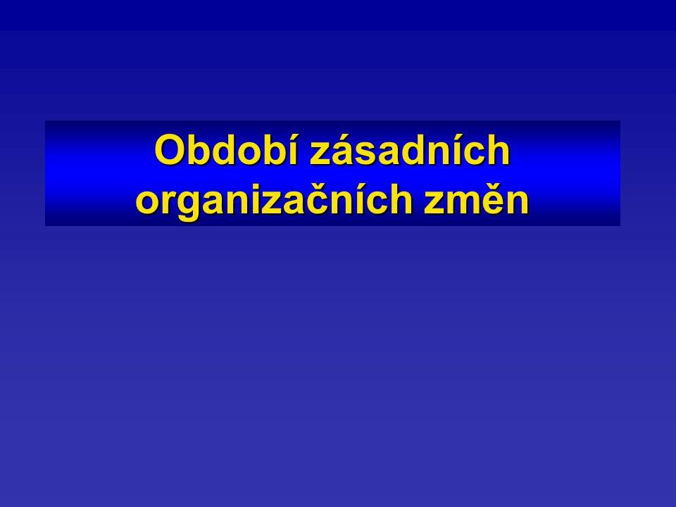 Období zásadních organizačních změn