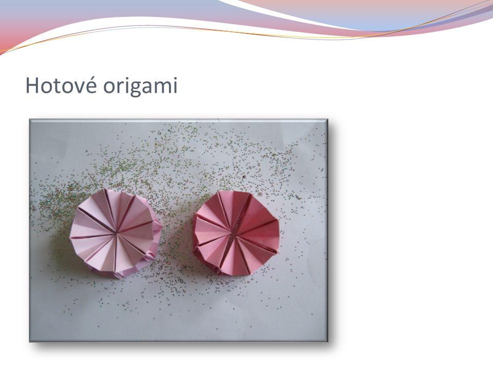 Hotové origami